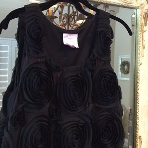 Romeo & Juliet dress. Black rosette front. Size M